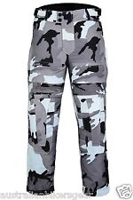 CT-1002 Grey Camo Camouflage Waterproof Armoured Motorcycle Thermal Trousers