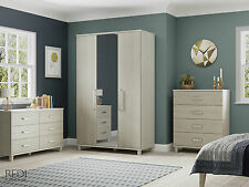 READY ASSEMBLED New Panama 6 Drawer Wide Chest of Drawers Bedroom Furniture