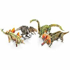 Kids Clockwork Wind Up Toy Slot Together Dinosaur 3D Model Party Bag Filler Toys