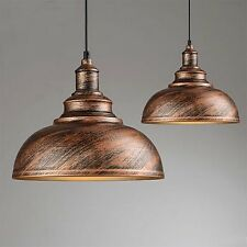 Modern Vintage Retro Rusty Metal Iron Chandelier Pendant Lamp Ceiling Light Cafe