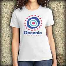 Oceanic Airlines Airplane Lost TV Show Funny Ladies Graphic Novelty Tee T Shirt