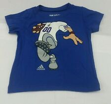 Kansas Jayhawk Adidas Graphic Toddler Football T-Shirt - Blue - Multiple Sizes