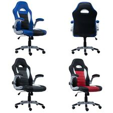 Home Office Luxurious Desk Chair PU Leather Executive Racing Style Bucket Chair