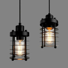Modern Vintage Retro Black Metal Iron Pendant Lamp Ceiling Light Cafe Fixture