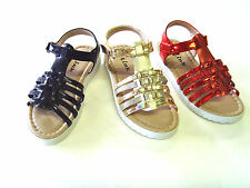 NEW YOUTH KID'S GIRL'S GLADIATOR Ankle Strap FLIP FLOP SANDALS SHOES size: 9-4