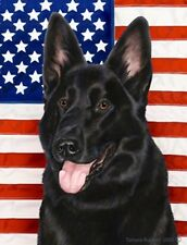 German Shepherd (Black): House Flags and Garden Flags. Three designs & two sizes