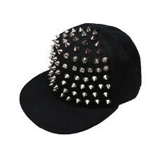 2016 Unisex Punk Rock Hip Hop Silver Rivet Stud Spike Spiky Baseball Hat Cap