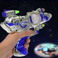 Multi-Color & Sound Effects Blinking LED Space Toy Gun Light Up Flashing LM