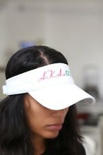 AKAs Golf visor, white - sun golf running jogging - Alpha Kappa Alpha AKA