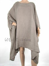NEW Italian Lagenlook Full Length LINEN Oversize KAFTAN Tunic