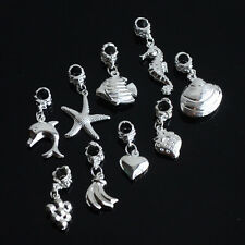 New Silver Plated Dangle Alloy Animal Fruit Charms Loose Beads fit DIY Beacelets