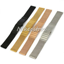 New 18~24 mm Stainless Steel Mesh Watch Band Shark Diving Strap Replacement Part