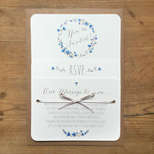 Floral Personalised Bespoke Wedding Invite / RSVP / Menu Cards Day or Evening