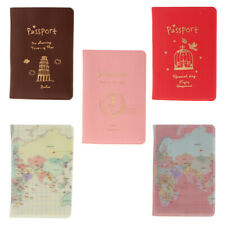 Passport Credit Card Holder Protector PU Leather Cover Travel ACCS Birthday Gift