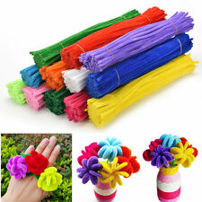 "Chenille Craft Stems Pipe Cleaners 30cm 12"" - Lots of Colours For DIY Twist Rod"