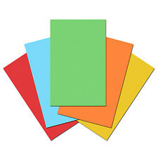 100 Sheets of Quality 80gsm Craft Copy Paper for Printer. Plain Multicolour