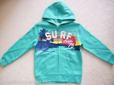 OLD NAVY Boys Jacket Size S 6 7 SURF Graphic Zip Hoodie Blue Kid New