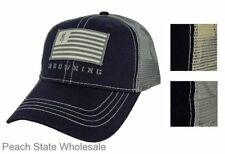 Men's NWT Browning Buckmark Patriot Cap Mesh Back Snapback Flag Hat Choose Color