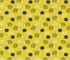 Hedgehog illustration sew Spoonflower fabric by the yard in a variety of cotton