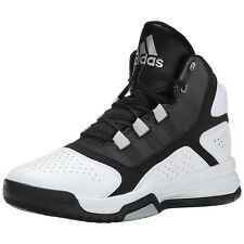 Mens Adidas Amplify Basketball Sneakers White Black Trainers NEW