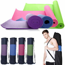 """Extra Thick Non-slip Yoga Mat Pad Exercise Fitness Pilates w/ Bag 68"""" x 24"""" OY"""