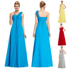 PLUS LONG Chiffon Formal Evening Cocktail Prom Party Bridesmaid Dress Ball Gown