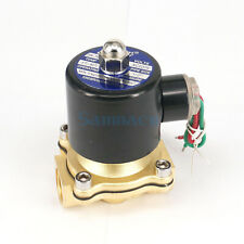 "1/2"" BSP Solenoid Brass Valve 2 Port Water Air Oil 2W-160-15 Normally Closed"