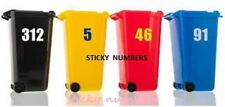 3 x Wheelie Bin Numbers Stickers Self Adhesive   , 6 inch,,m.