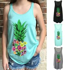 New Sexy Fashion Women's Summer Casual Pineapple Sleeveless T-Shirt Top Camisole