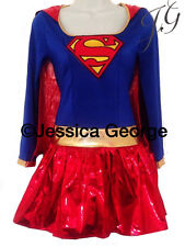 Superwoman supergirl fancy dress ,outfit /costume 6,8,10,12,14