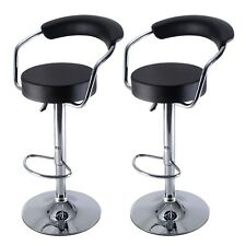 US Home Set of 2 Bar Stool Modern Adjustable Counter Swivel Pub Style Barstools
