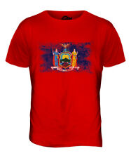 NEW YORK STATE DISTRESSED FLAG MENS T-SHIRT TOP NEW YORKER SHIRT JERSEY GIFT
