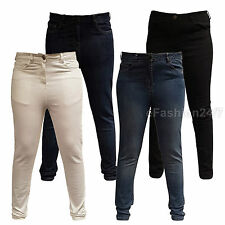 Ladies Plus Size Stretch Curves 5 Pocket Skinny White Black Jeans Denim 14-28