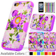 Hybrid Rubber Shockproof Hard Case Cover for Apple iPod Touch 5 6 (5th 6th) Gen