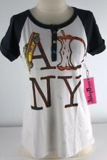 ABBEY DAWN BY AVRIL LAVIGNE ADNY SS RAGLAN HENLEY TEE T SHIRT SIZE (XS TO M)