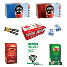 Portions & Sachets Nescafe/Kenco/Douwe Egbert/Tetley/Sugar/Milk/Lotus Biscuits