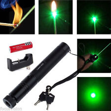 5mw 532nm Green Laser Pointer Light Pen Lazer Beam High Power+Battery +Charger Y