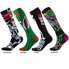 Oneal NEW Mx Pro Assorted Black Green Long BMX MTB Motocross Dirt Bike Socks