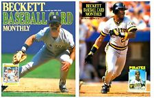1990 Beckett Baseball Trading Card Monthly Price Guide Prints Photographs