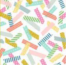 Colorful Washi Tape fabric by the yard custom cotton with Spoonflower fabric