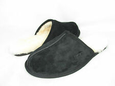 NEW UGG AUSTRALIA MEN SLIPPER SCUFF BLACK SUEDE 5776 ORIGINAL