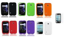 LCD + Soft Silicone Cover Case for Straight Talk Huawei Ascend II 2 M865C M865