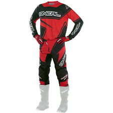 Oneal 2017 NEW Mx Element Jersey Pants Gloves Adult Black Red Motocross Gear Set