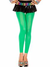 Emerald Green Opaque Footless 70 Denier Sexy Capri Ladies Tights P35747
