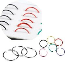 40x Stainless Steel Nose Studs Hoops Body Piercing Jewelry