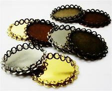 5 x SILVER, BRONZE, GOLD,COPPER SETTINGS FOR 20mm ROUND CABOCHON
