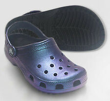 Crocs Kids Classic Iridescent Shiny Clog Boys Aegean Blue / Black All Size