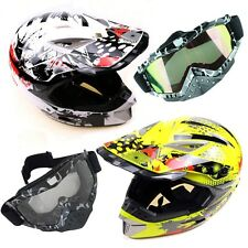 MX Helmet+ Goggles Motocross/Motorcycle/Dirt Pit Bike Gear/Motorbike/ATV/Quad