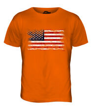 STARS AND STRIPES DISTRESSED FLAG MENS T-SHIRT TOP USA US UNITED STATES AMERICA