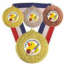 Cricket Medal & Ribbon, Engraved, Cricket Humorous Duck Award, Trophy Most Ducks